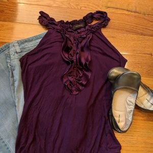The Limited purple blouse